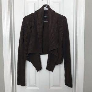Express Brown Knit Open Cardigan Sweater - AMAZING